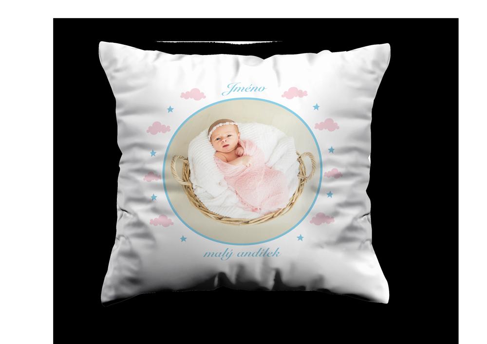 Bílý polštář - Malý andílek