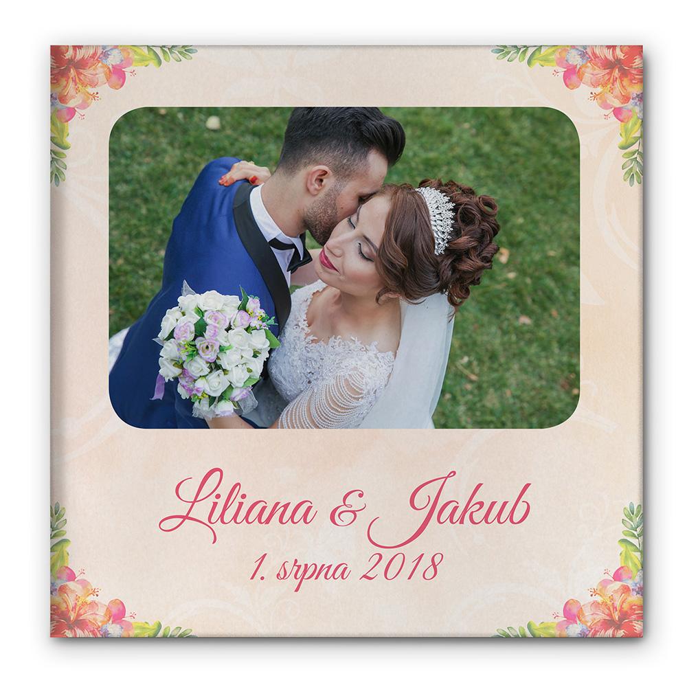 Fotokniha pevná vazba - Svatba květiny