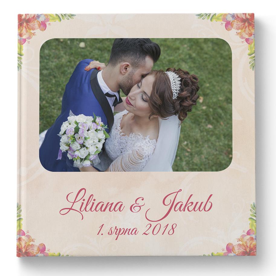Plochá fotokniha - Svatba květiny