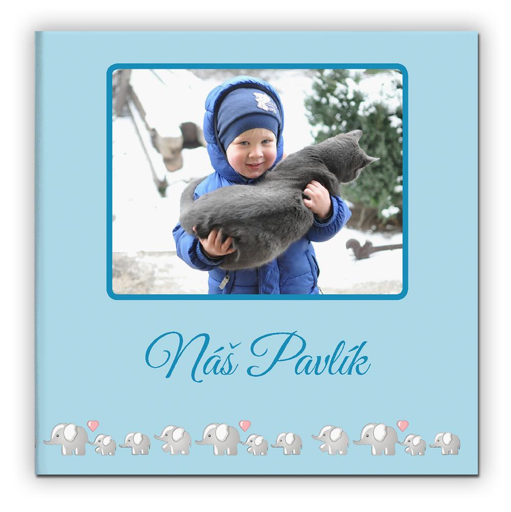 Fotokniha pevná vazba - Dětská modrá