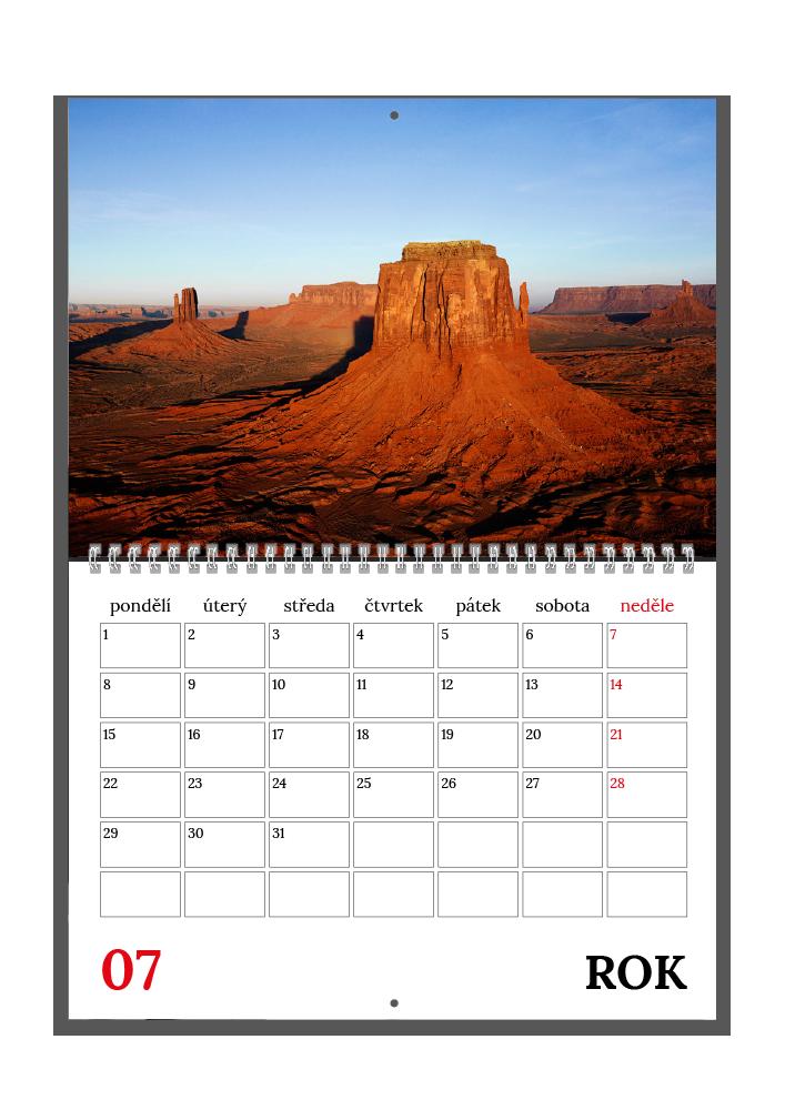 Plánovací kalendář - Moderní bílý