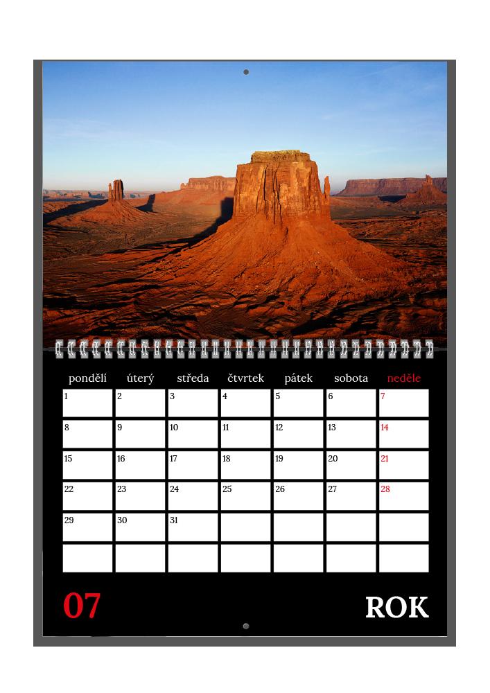 Plánovací kalendář - Moderní černý