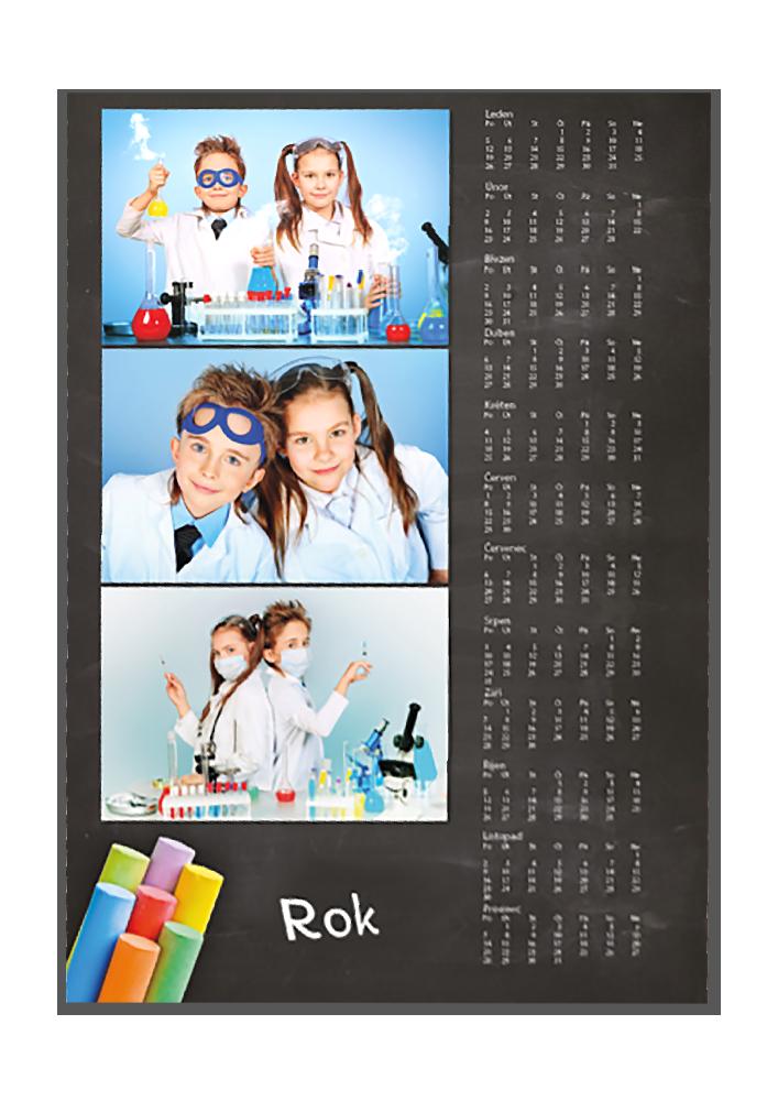 Roční fotoplakát A3 - Školní tabule