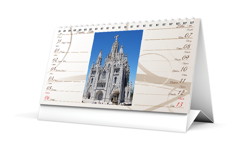 Stolní kalendář - DL - Béžový